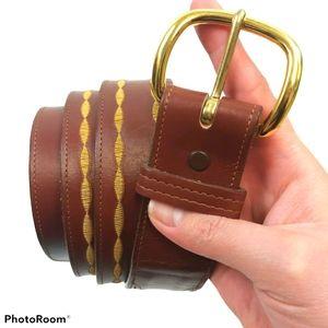 Justin Cowhide Western Leather Buckle Belt sz 40